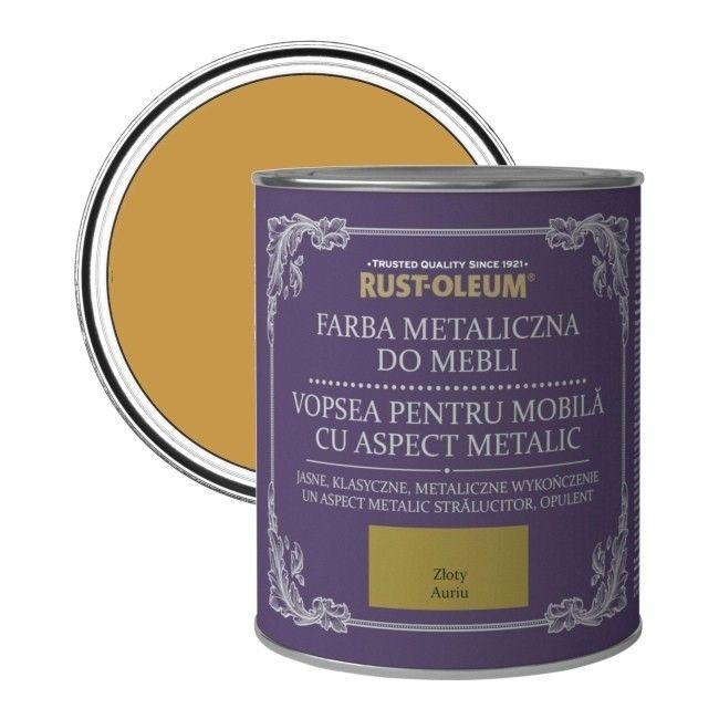 Farba Do Mebli Rust Oleum Zloty Metaliczny 0 125 L Do Renowacji Castorama