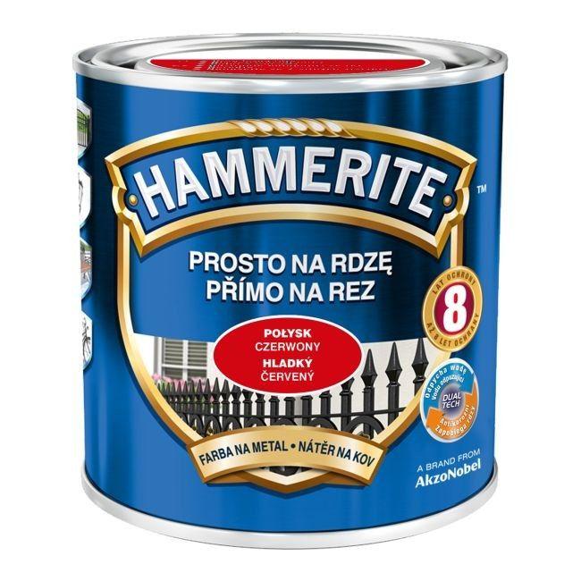 przybywa Nowa kolekcja urok kosztów Farba do metalu Hammerite Prosto Na Rdzę połysk czerwony 0,25 l