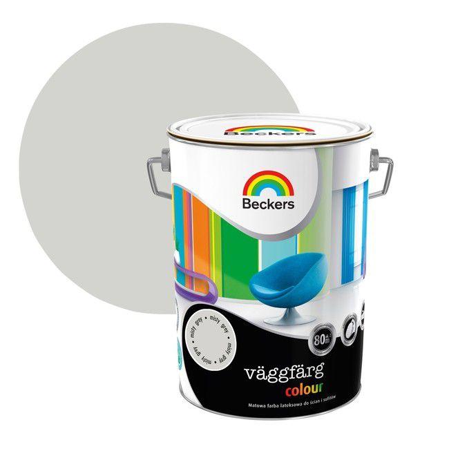 Farba Lateksowa Beckers Vaggfarg Colour Misty Grey 5 L