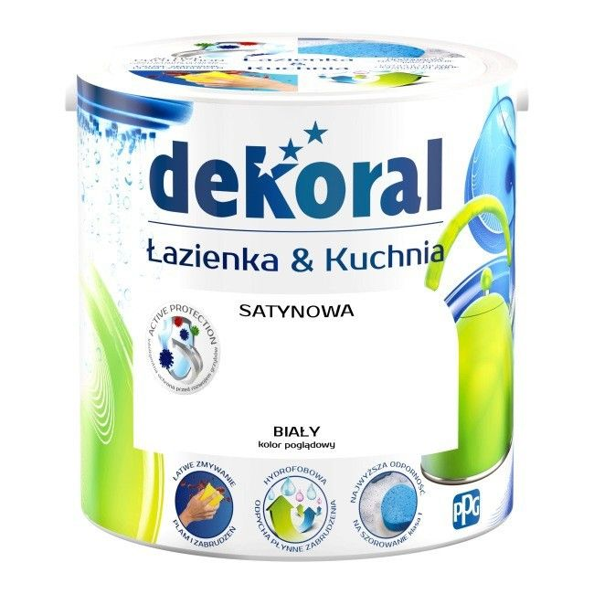Farba Satynowa Dekoral łazienka I Kuchnia Biały 25 L