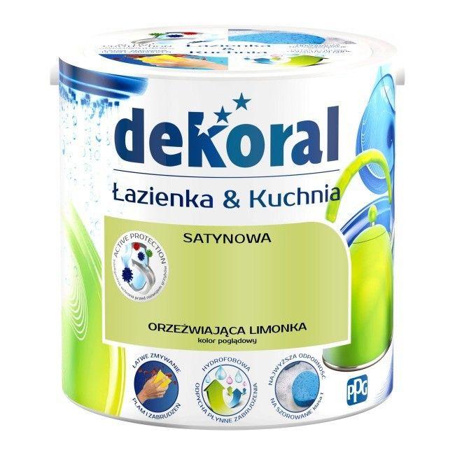 Farba Satynowa Dekoral łazienka I Kuchnia Orzeźwiająca Limonka 25 L