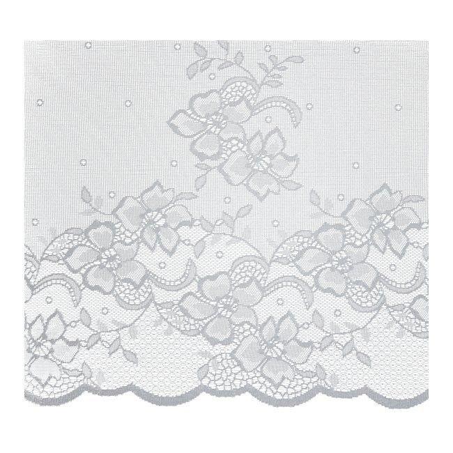 Firana żakardowa Azo 50 cm biała