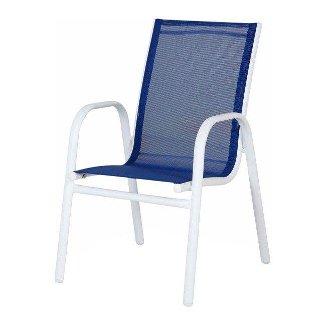 Castorama Blooma Krzesełko dziecięce niebieskie