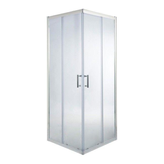Kabina Prysznicowa Kwadratowa Onega 90 X 90 X 190 Cm Chrom Transparentna Kabiny Prysznicowe Castorama