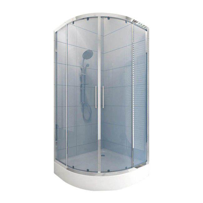Kabina Prysznicowa Półokrągła Durasan Palermo 80 X 80 X 195 Cm Niski