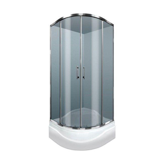 Kabina Prysznicowa Półokrągła Durasan Palermo 80 X 80 X 195 Cm