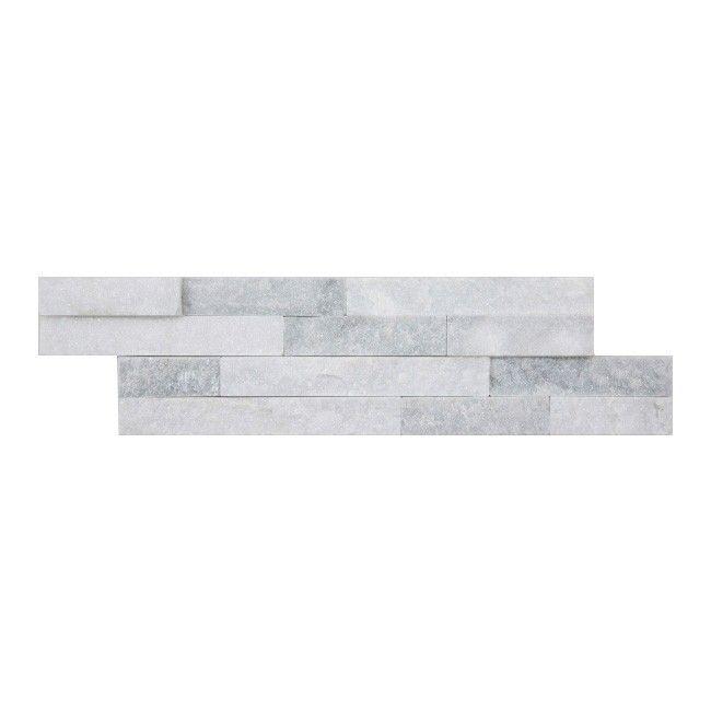 Kamien Naturalny Quartz 10 X 35 Cm White Grey 0 39 M2 Plytki Elewacyjne Castorama