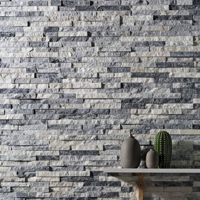 Kamień Naturalny Quartz 10 X 35 Cm Whitegrey 039 M2
