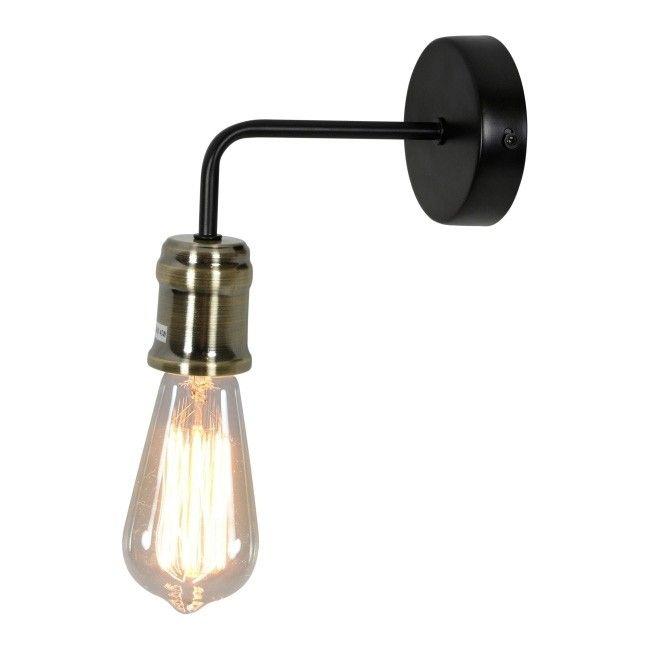 Kinkiet Goldie 1 X 60 W E27 Czarny Patyna Kinkiety Lampy ścienne