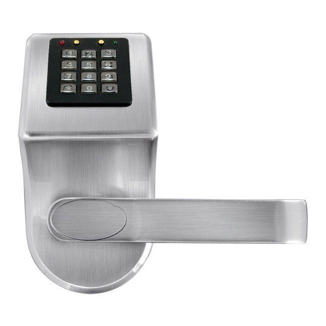 Klamka Z Szyfratorem I Czytnikiem Kart Rfid Eura Elh 70b9 Silver Do Drzwi Zewnetrznych Castorama