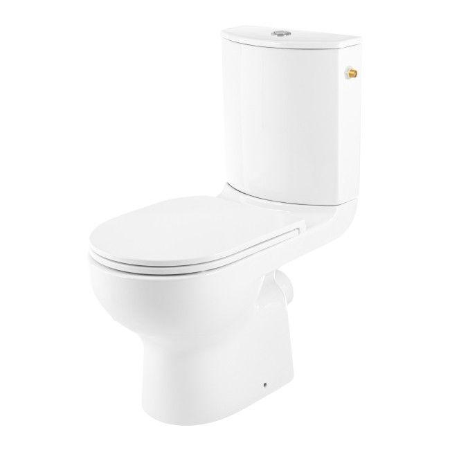 Kompakt WC GoodHome Cavally Slim bezkołnierzowy poziomy 3/6 l z deską wolnoopadającą