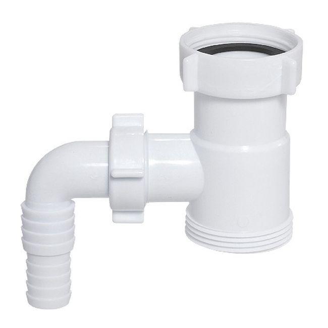 Kr ciec z wyj ciem do pralki zmywarki 1 1 2 x 1 1 2 pozosta e przy cza do rur akcesoria for Siphon salle de bain pau