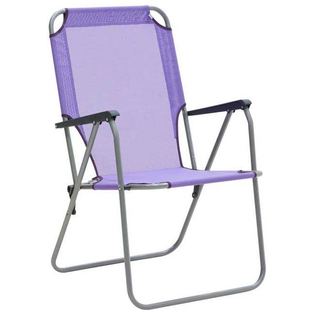 Krzesełko Patio Veneto Fioletowe Krzesła Turystyczne Kemping