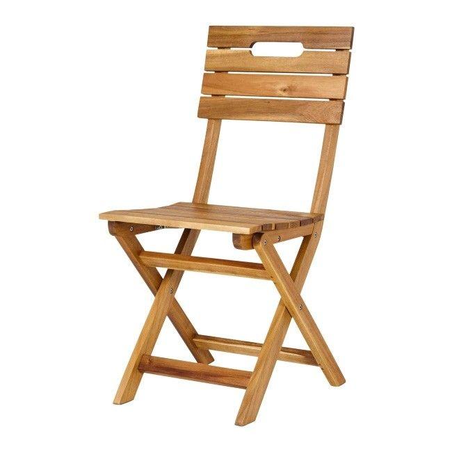 Nowoczesna architektura Krzesło składane Blooma Denia 53 x 53 x 87 cm - Krzesła - Meble KK48