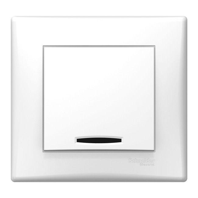 Łącznik pojedynczy Schneider Electric Sedna z podświetleniem biały