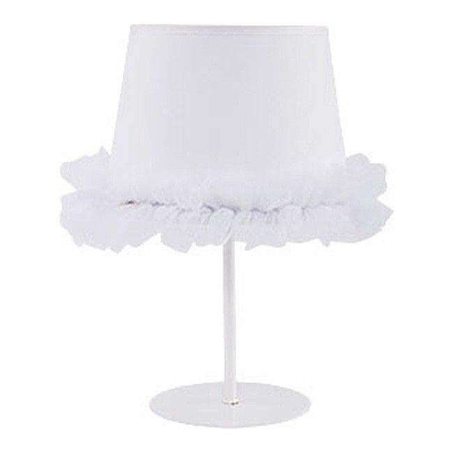 Lampa biurkowa Ballet 1 x 40 W E14 biała