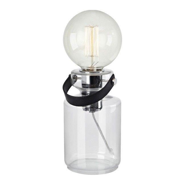 Lampa Stołowa Adrian E27 1 X 40 W Transparentna