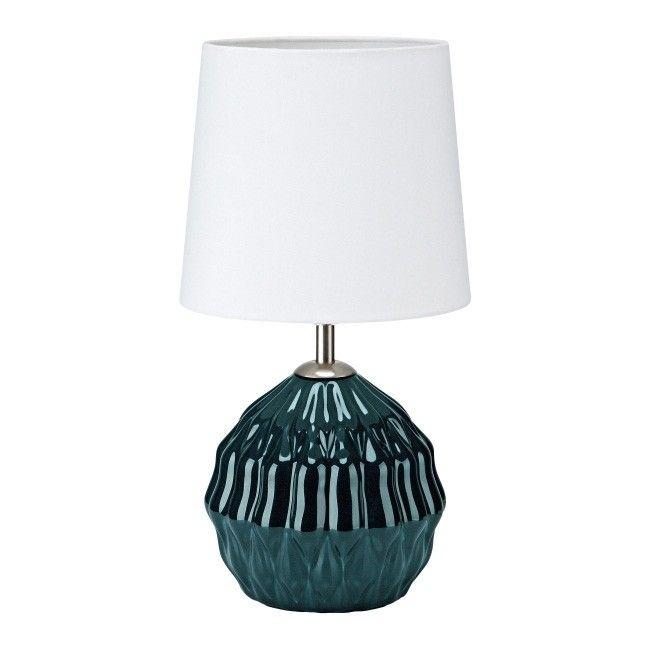 Lampa Stołowa Lora E14 1 X 40 W Zielono Biała