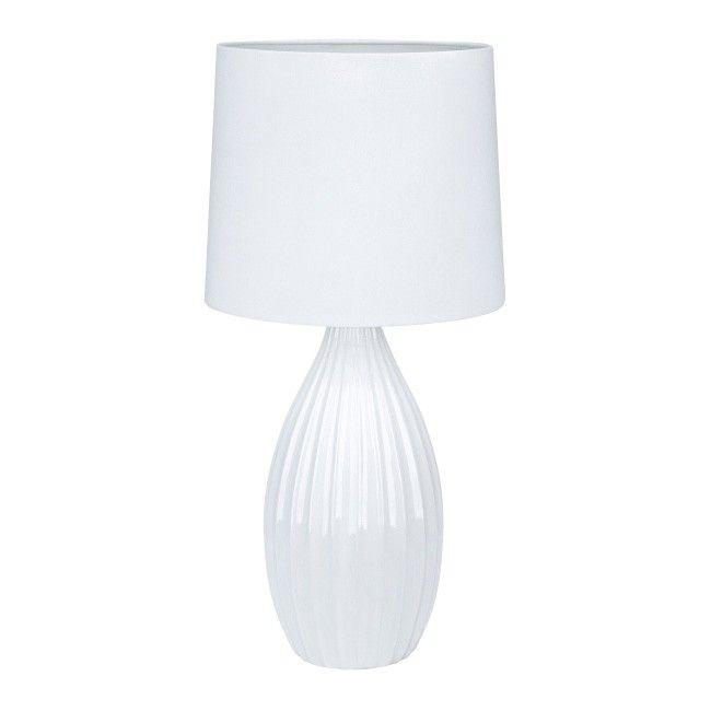 Lampa Stołowa Stephanie E27 1 X 60 W Biała