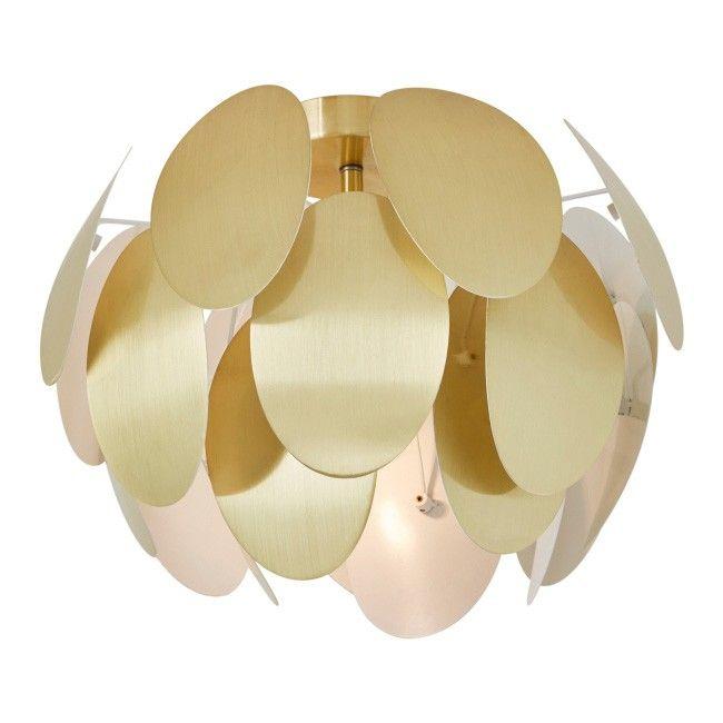Lampa Sufitowa Colours Fleurus 1 X 42 W E27 Złota Plafony I
