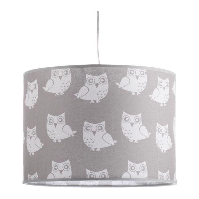 Lampa Wisząca 1 X 40 W E27 Szare Sowy Lampy Wiszące Lampy