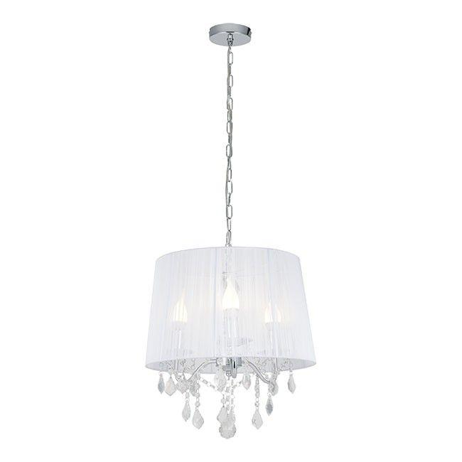 Lampa Wiszaca Cornelia 3 X 40 W E14 Biala Lampy Wiszace Castorama