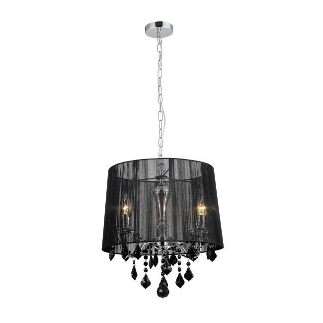 Lampa wisząca Cornelia 3 x 40 W E14 czarna