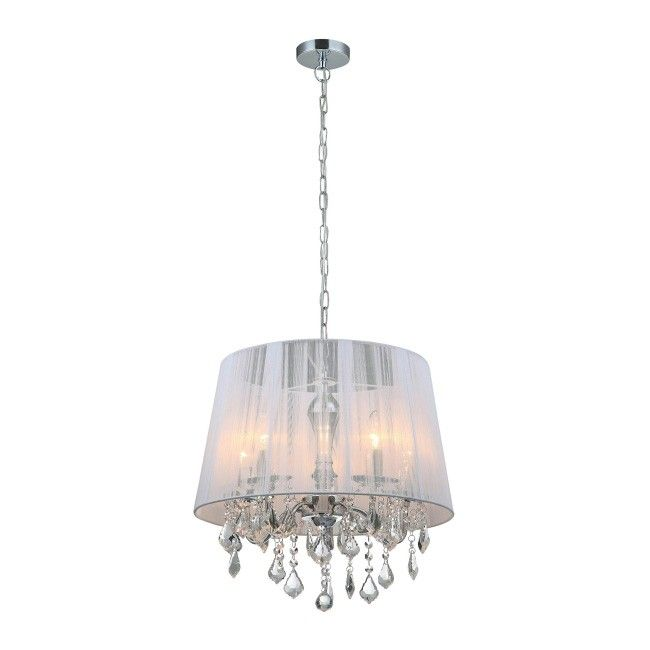 Lampa wisząca Cornelia 5 x 40 W E14 biała Lampy wiszące