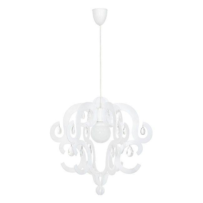Lampa Wiszaca Katerina 1 X 60 W E27 Biala Lampy Wiszace Castorama