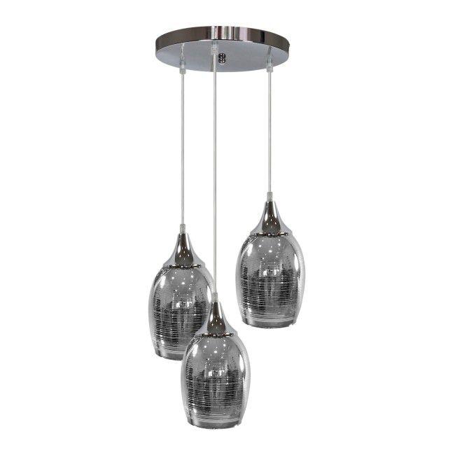 Lampa Wiszaca Marina 3 X 60 W E27 Chrom Lampy Wiszace Castorama