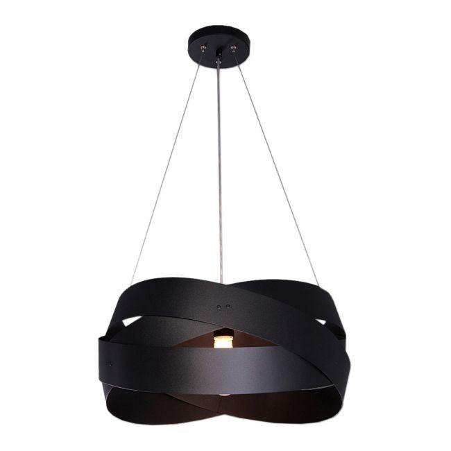 Lampa wisząca Tornado 3 x 40 W E27 czarna matowa 50 cm   -> Kuchnia Czarna Lampa