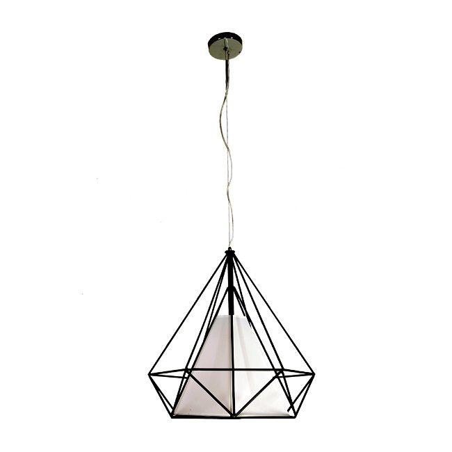 Lampa Wisząca Triangolo 1 X 40 W E27 Czarno Biała Lampy Wiszące