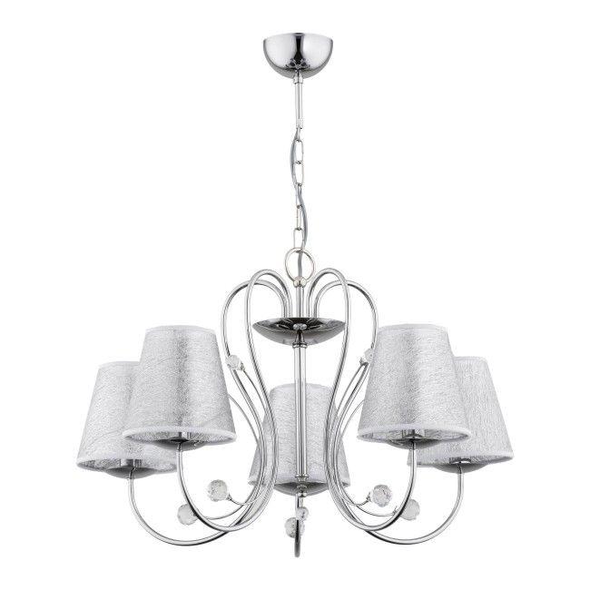 Lampa Wiszaca Unity Royal 5 X 60 W E14 Chrom Srebrna Lampy Wiszace Castorama