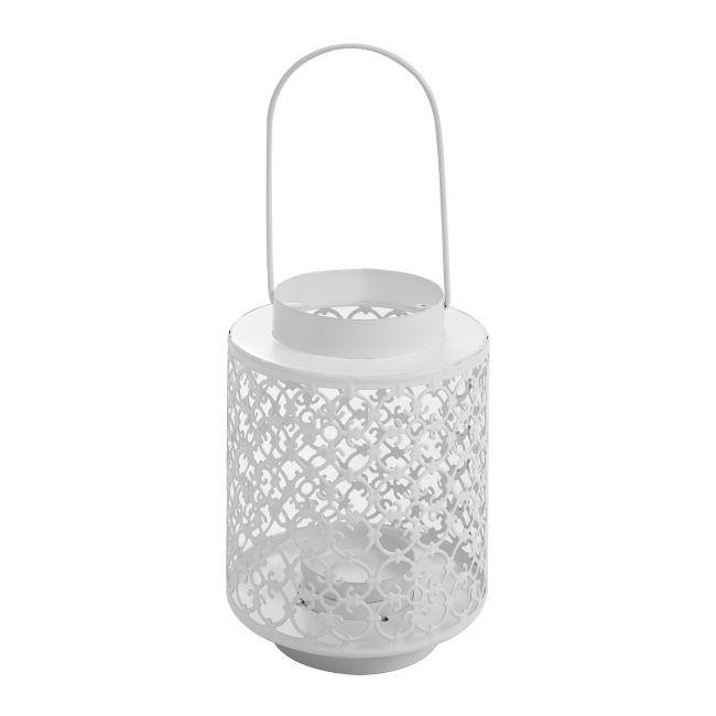Lampion Blooma Victoria biały 18,5 cm