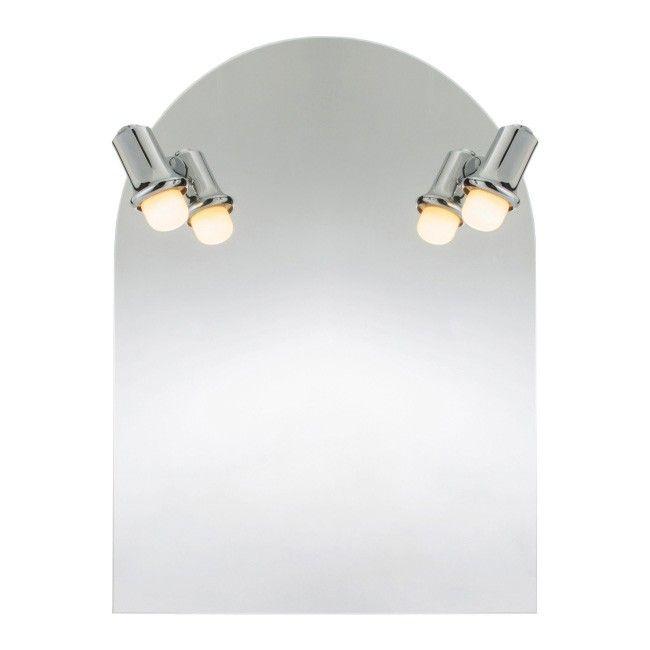 Lustro łukowe Cookelewis Beauport 65 X 50 Cm Z Oświetleniem