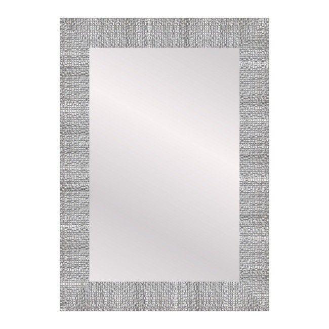 Lustro prostokątne Chaba 50 x 70 cm w ramie srebrne