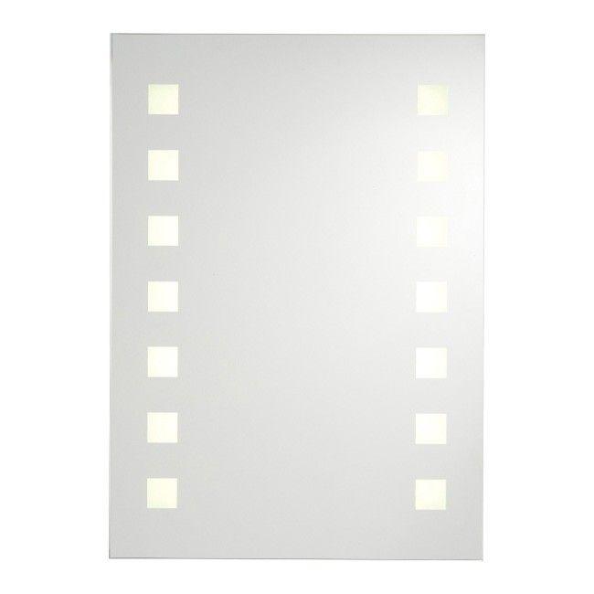 Lustro Prostokątne Cookelewis Rozel 70 X 50 Cm Z Oświetleniem Led