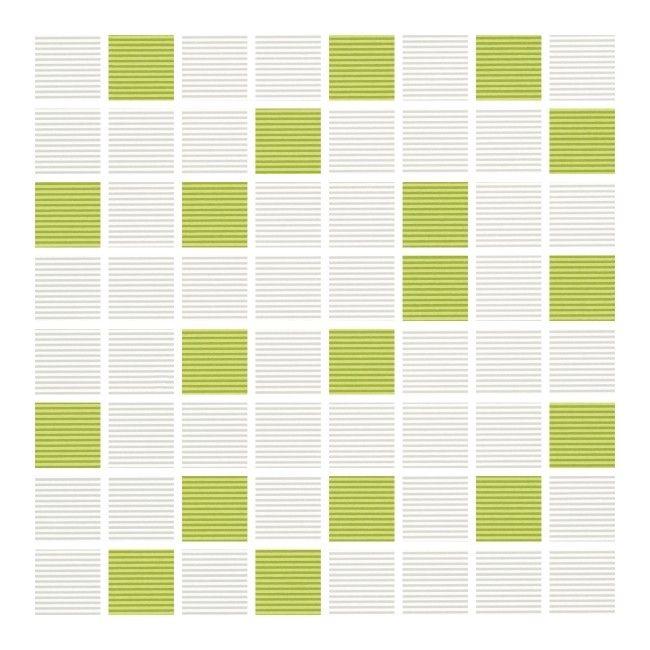 Mozaika Verno Cersanit 25 X 25 Cm Biało Zielona Płytki