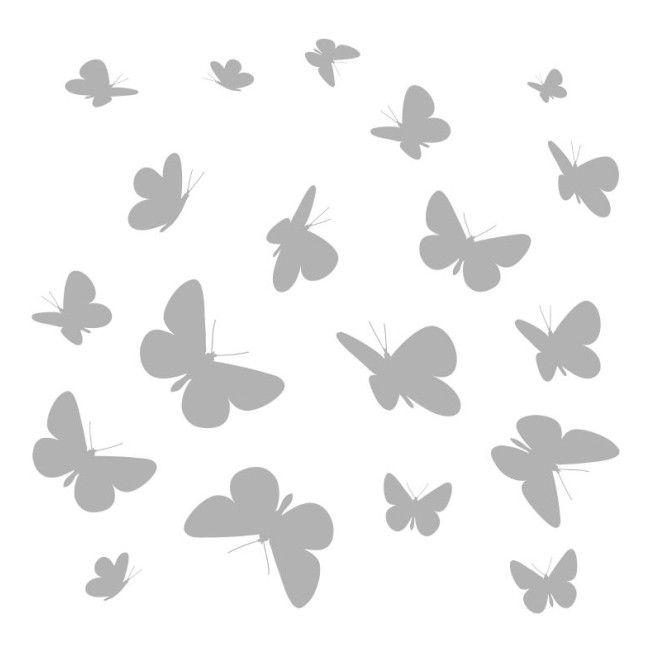Naklejka Motyle 31 X 31 Cm 2 Szt