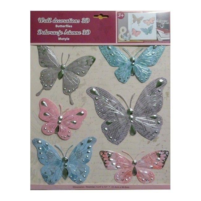 Naklejka Scienna Motyle 2 Naklejki Castorama