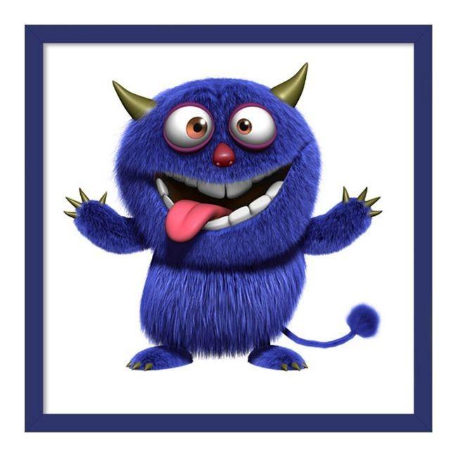 Obraz 20 x 20 cm Niebieski potworek