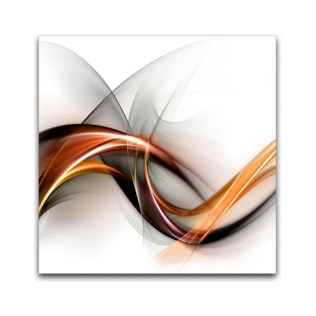 Obraz Glasspik Abstrakcja Biała 30 X 30 Cm Obrazy Obrazy I