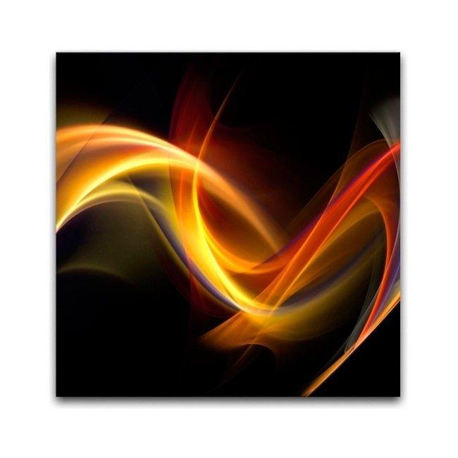Obraz Glasspik Abstrakcja Czarna 30 X 30 Cm Obrazy Obrazy I