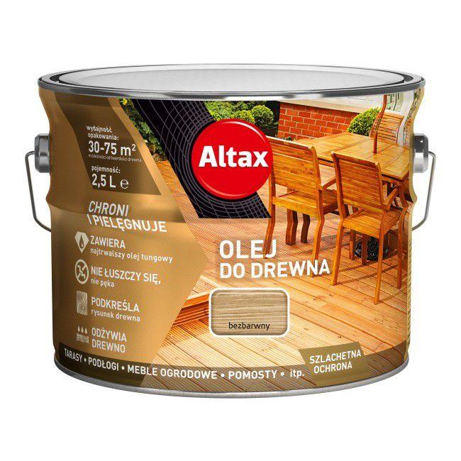 Olej Do Drewna Altax Bezbarwny 2 5 L Oleje Castorama