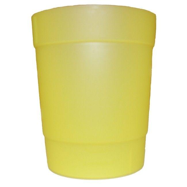 Osłonka Doniczki Plastikowa Do Storczyka 12 Cm żółta