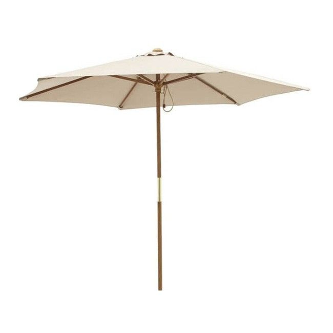 parasol drewniany blooma capri 2 5 m taupe parasole ogrodowe parasole pawilony i markizy. Black Bedroom Furniture Sets. Home Design Ideas