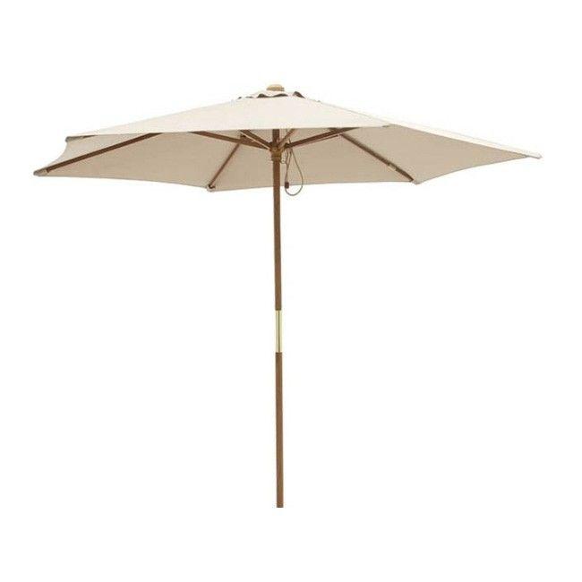 Parasol drewniany Blooma Capri 2,5 m taupe   Parasole ogrodowe