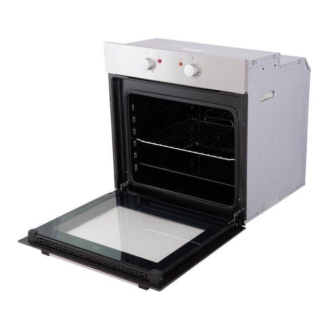 Piekarnik Do Zabudowy Statyczny 59 5 X 53 5 X 59 5 Cm 4 Funkcyjny Inox Czarny