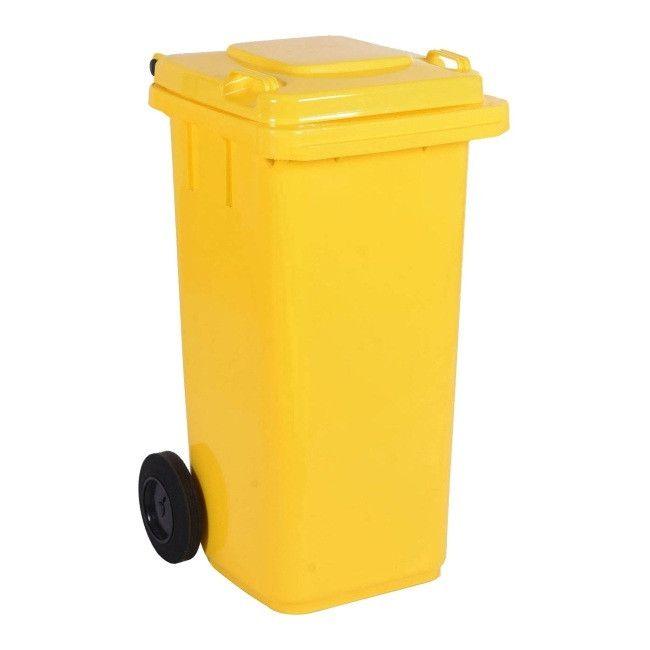 Pojemnik Do Segregacji Odpadow 120 L Zolty Pojemniki Na Odpady Castorama