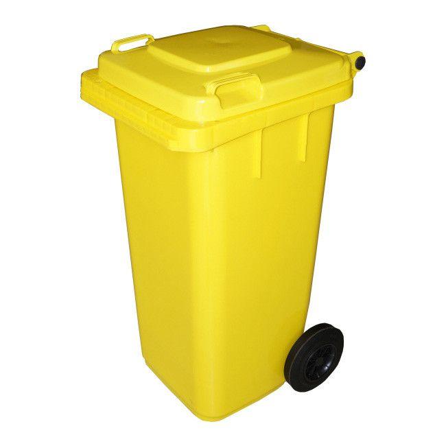 Pojemnik Do Segregacji Odpadow 240 L Zolty Pojemniki Na Odpady Castorama